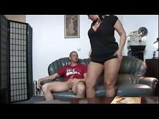 BBW Mature with young boy